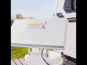 Vuesat Smartbeam Automatic Satellite Dish System with Mobile Phone Control and 'in app' Live TV Viewing