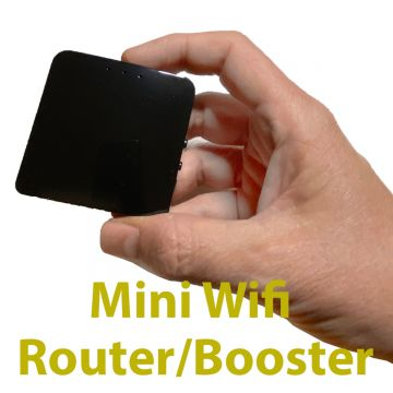 Mini Wifi Router/Booster powered by USB pre-configured for use with the Vuesat SmartBEAM for Steel Walled Motorhomes