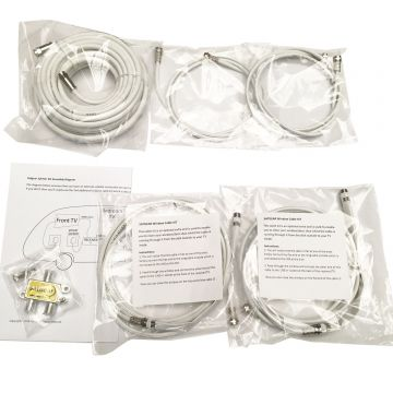 Satgear Satellite Splitter KIT for Using 2 x TV's From One Dish Connection (including window kit plus additional cables)