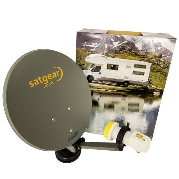 Satgear Premium High Definition 40cm Portable Suitcase Satellite Kit with Easyfind 12/240v HD Receiver