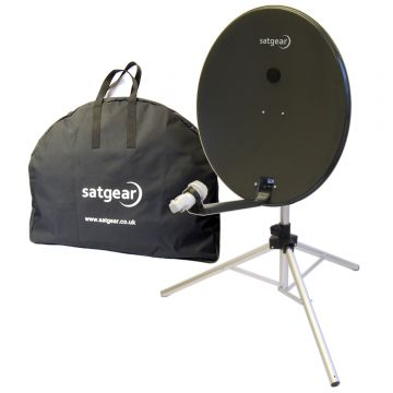 Satgear Premium 80cm Portable Satellite Dish Kit (with Easyfind Option for Avtex/Opticum TV's)