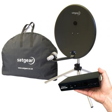Satgear Premium 80cm High Definition Portable Satellite Dish Kit with Easyfind HD