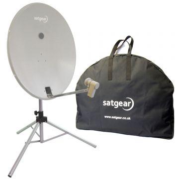 Satgear Premium 80cm Portable Twin LNB Satellite Dish Kit