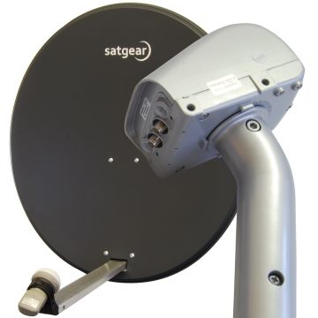 80cm Motorised Satellite Dish Kit with Satfinder