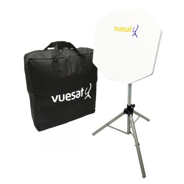 Vuesat EasyBEAM Premium Portable Flat Panel Satellite Dish Kit - Designed for use with your own AVTEX or OPTICUM TV (includes Easyfind)