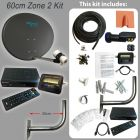 Build your Own Freesat Zone 1 or 2 Satellite Dish Kit for Single or Multi Room Use